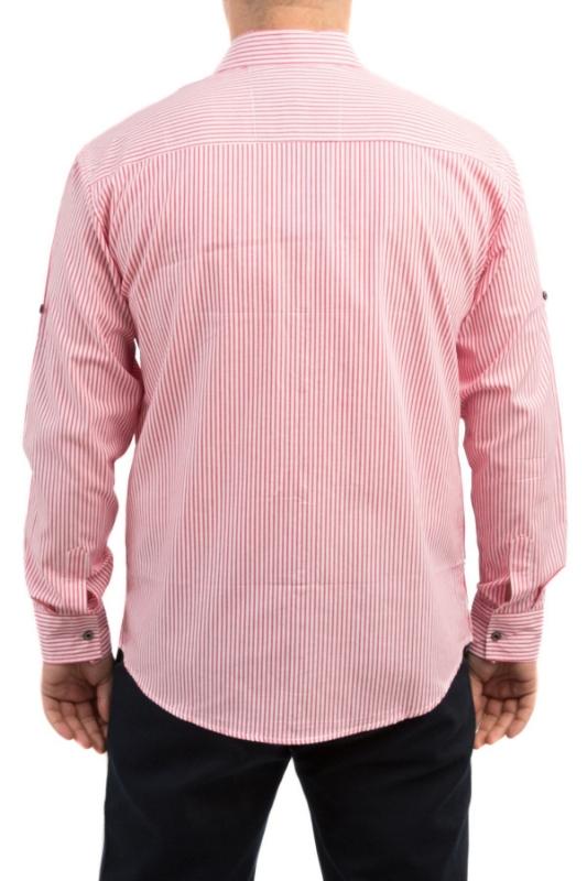 Camasa casual alba cu dungi rosii 203