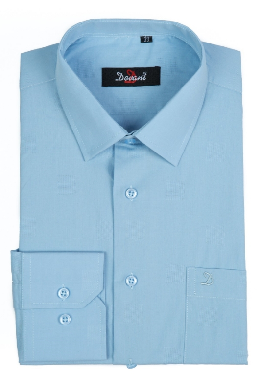 Camasa clasica barbati simpla bleu A01