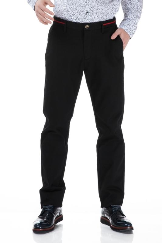 Pantaloni barbati negri S833-1