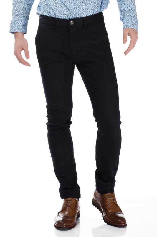 Pantaloni barbati bleumarin S832-10