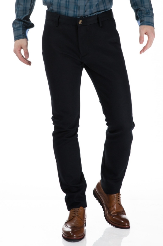 Pantaloni barbati negri S832-9