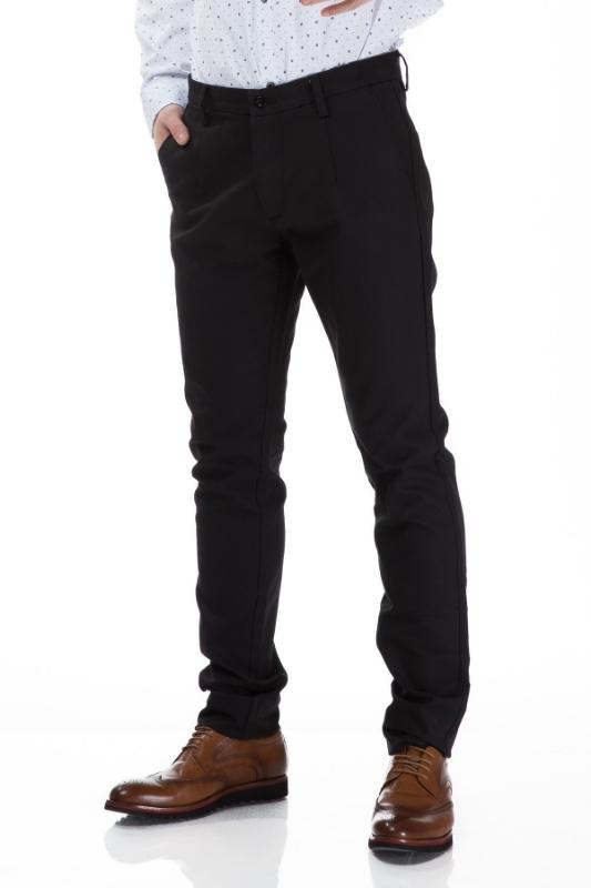 Pantaloni barbati negri S834-1