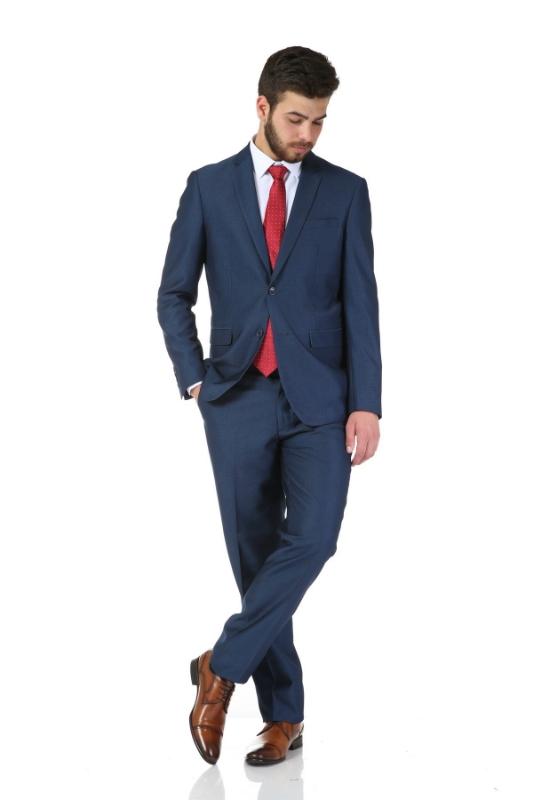 Pantaloni eleganti bleumarin C17317-9