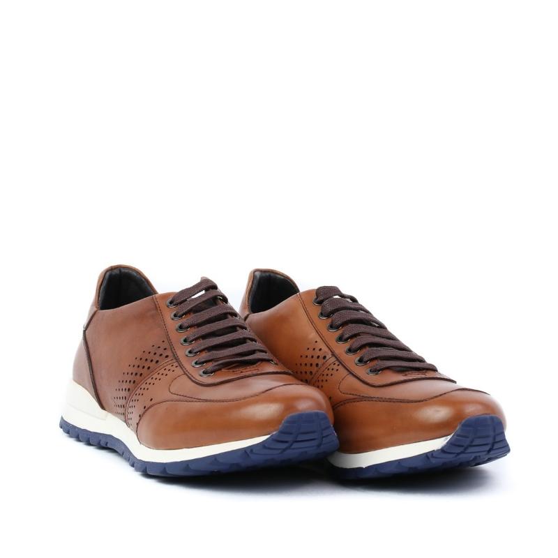 Pantofi maro-tan E034-4-1