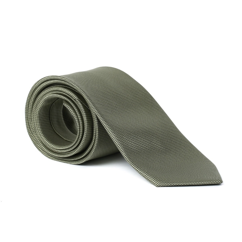 Imagine Cravata kaki in carouri