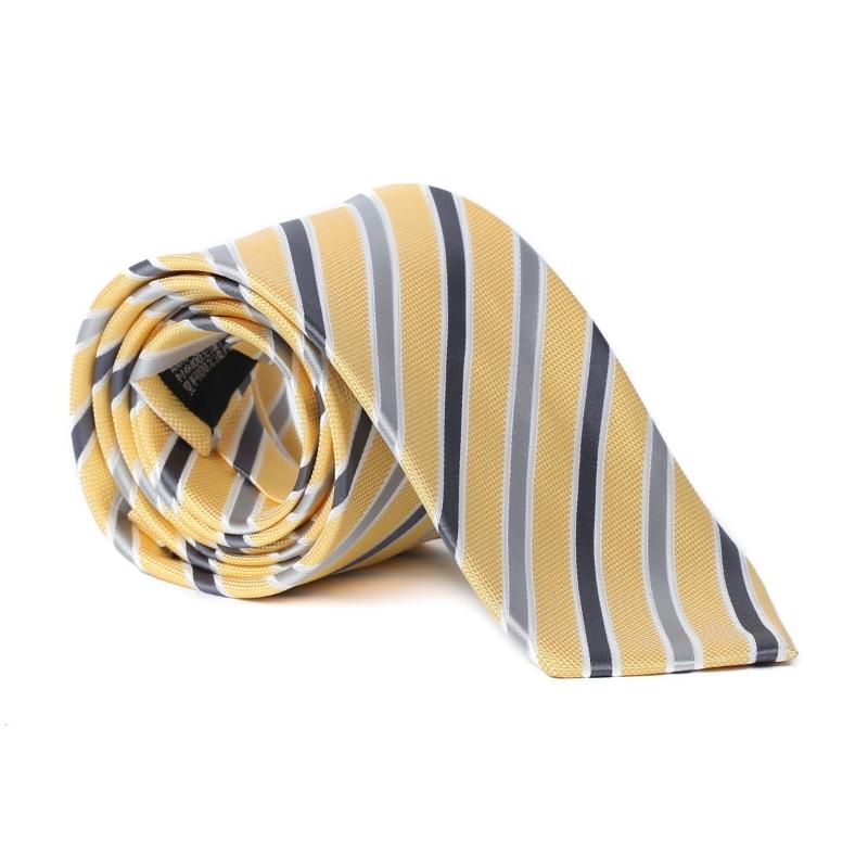 Imagine Cravata galbena cu dungi