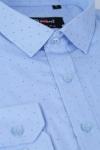 Imagine Camasa slim bleu cu buline 9664-56
