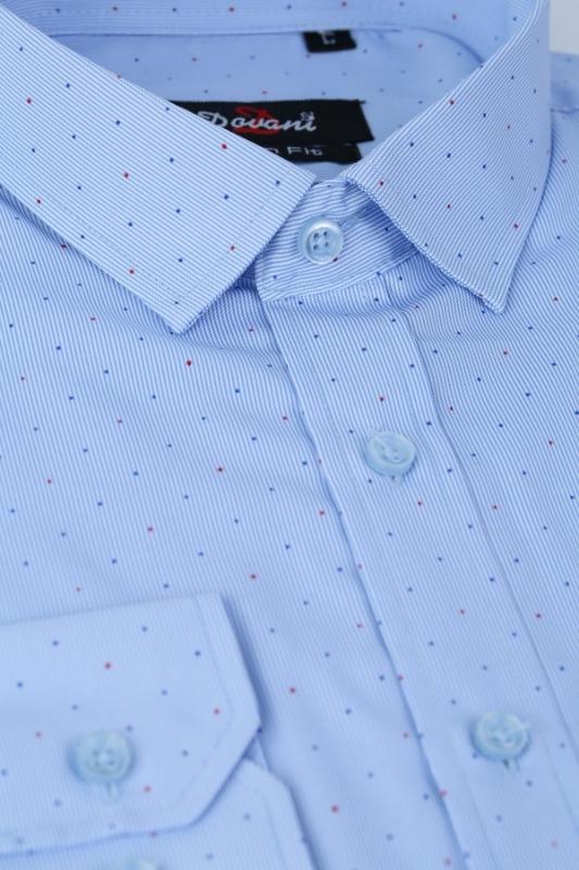 Camasa slim bleu cu buline 9664-56