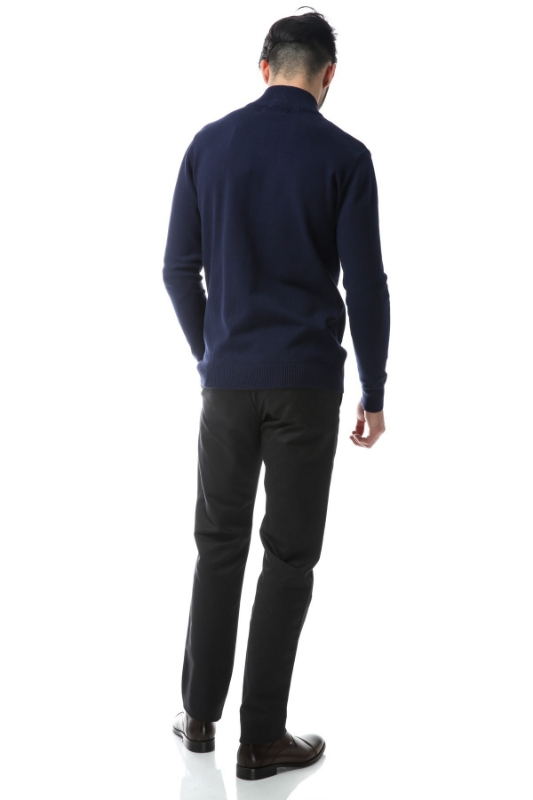 Pulover bleumarin 17075-1