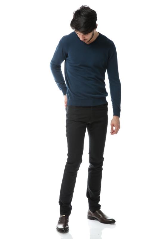 Pantaloni verde inchis spre bleumarin S861-1
