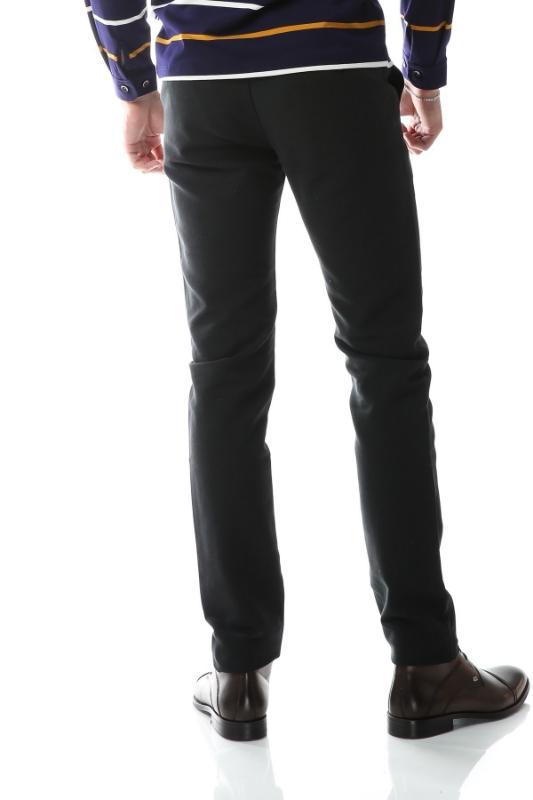 Pantaloni verde inchis spre bleumarin S862-1