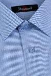 Imagine Camasa clasica bleu in carouri 4057