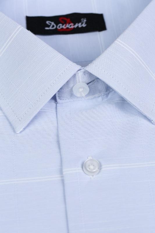 Camasa clasica bleu cu dungi albe 9730-2