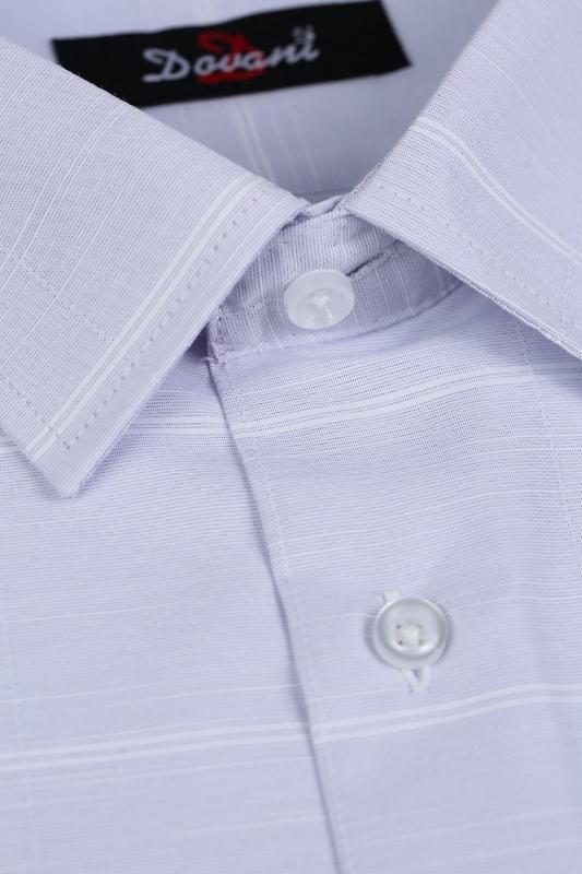 Camasa clasica mov cu dungi albe  9730-3