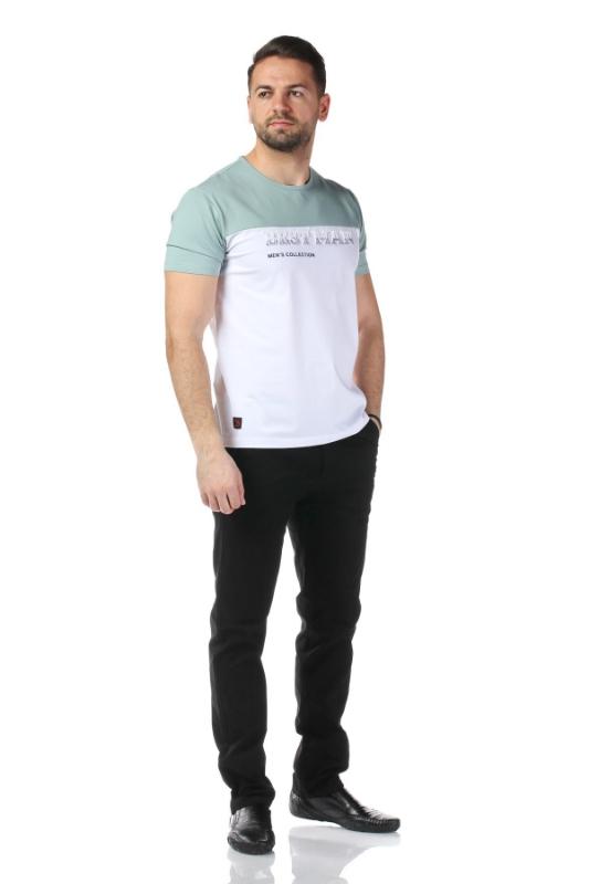 Tricou alb cu verde 1802-1