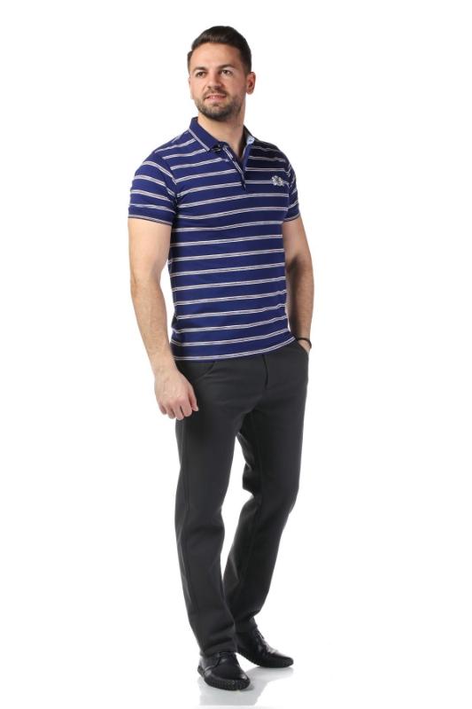 Tricou bleumarin cu dungi albe 7815-2