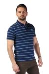 Imagine Tricou bleumarin cu dungi verzi 7815-3