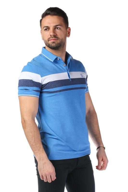 Imagine Tricou bleu cu dungi albe P1199505S-2