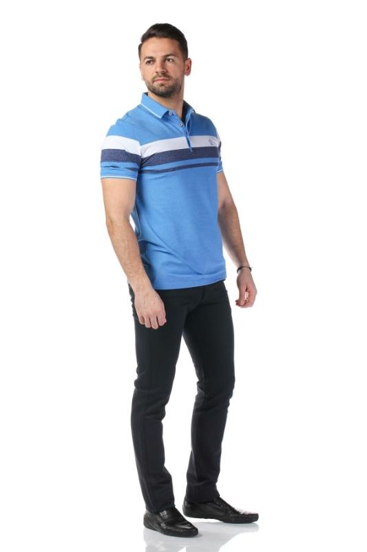 Tricou bleu cu dungi albe P1199505S-2
