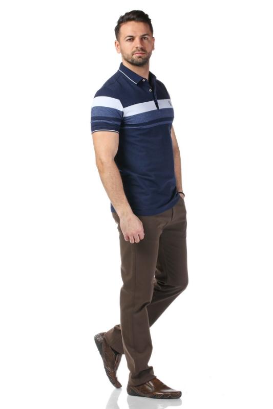 Tricou bleumarin cu dungi albe P1199505S-3