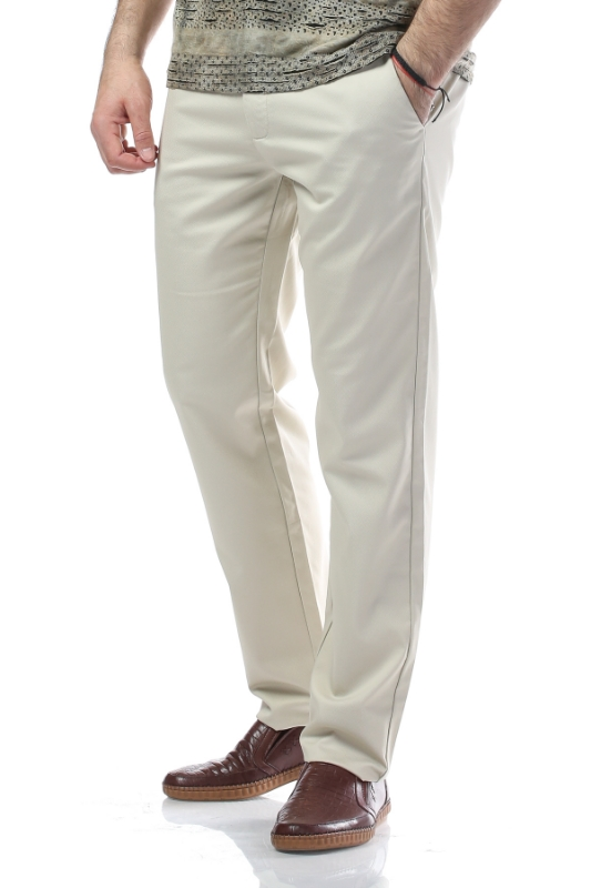 Imagine Pantaloni crem R887-1