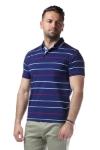 Imagine Tricou bleumarin cu dungi rosii 7769-1