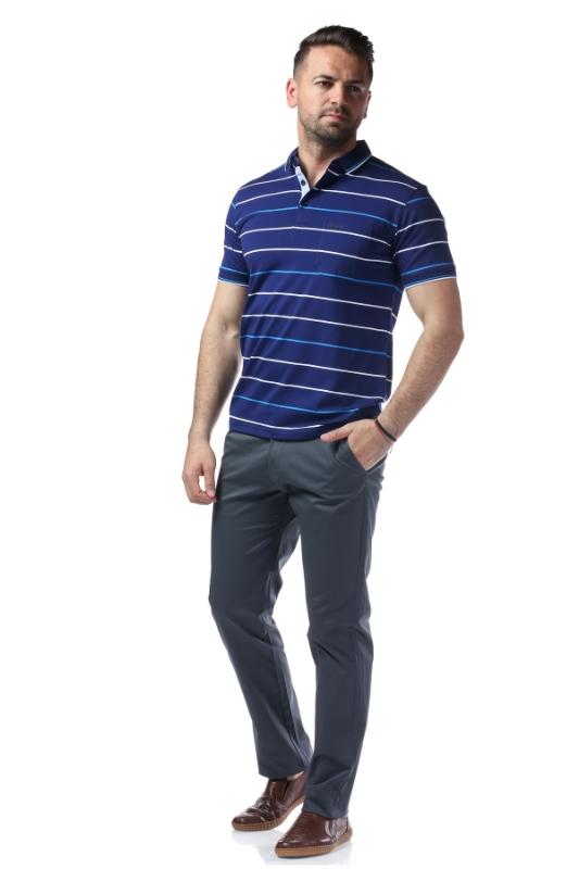 Tricou bleumarin cu dungi albastre 7769-2
