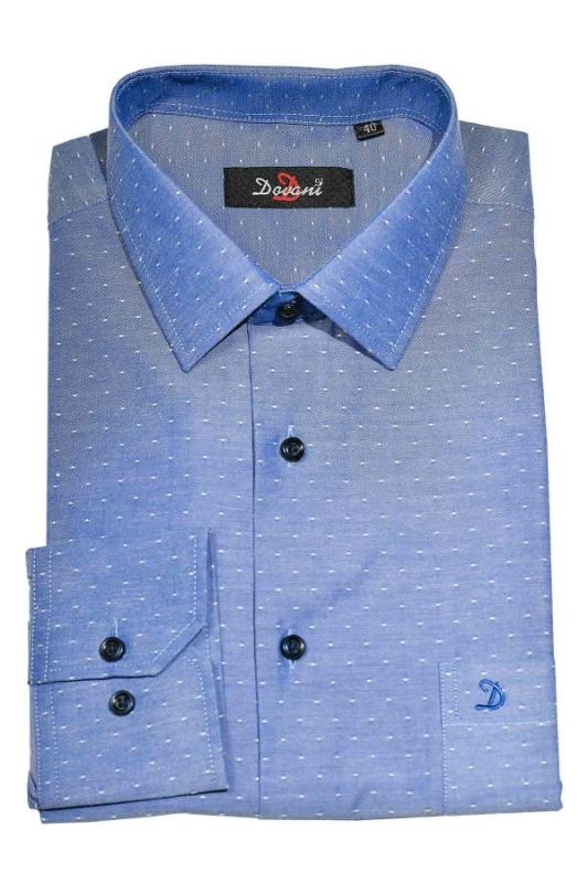 Camasa clasica albastru deschis cu buline 9710-5 F1