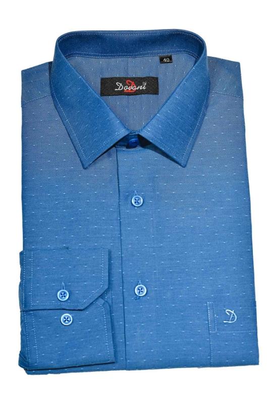 Camasa clasica albastru inchis cu buline 9710-8 F1
