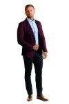 Pantaloni bleumarin S906-10 F2