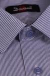 Camasa clasica alba cu dungi albastre S01 F2