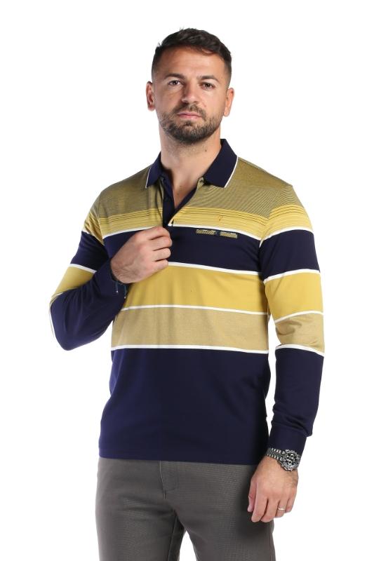 Tricou bleumarin cu vernil 1916-2 F1