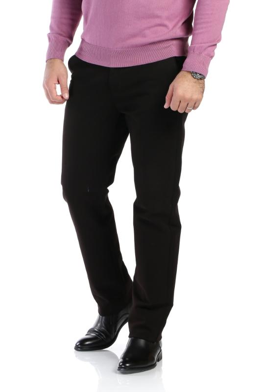 Pantaloni maro inchis spre negru R910-5 F1
