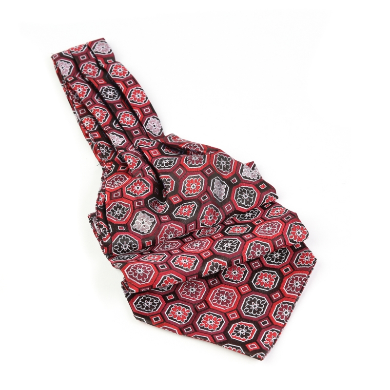 Cravata ascot visinie cu model F1