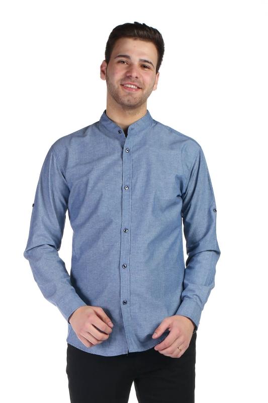 Camasa casual albastra 3227-5 F1