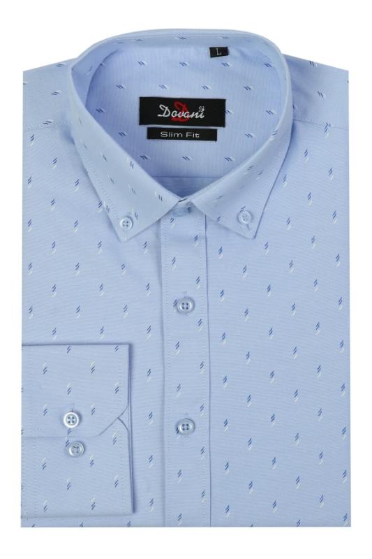 Camasa slim bleu cu imprimeu 18-32 F1