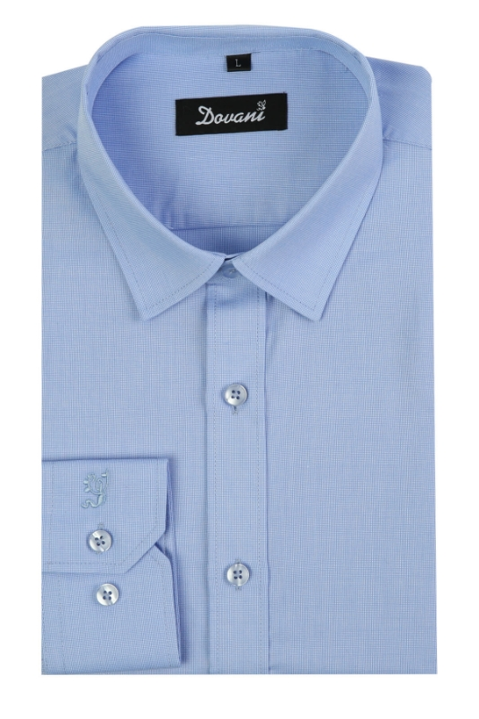 Camasa slim bleu inchis A001-7  F1