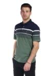 Tricou verde cu dungi bleumarin si albe X202018S-2 F1