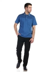 Tricou albastru A20216S-4 F2