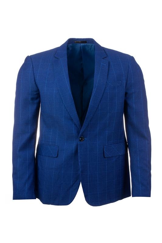 Imagine Sacou albastru carouri LM2991-2