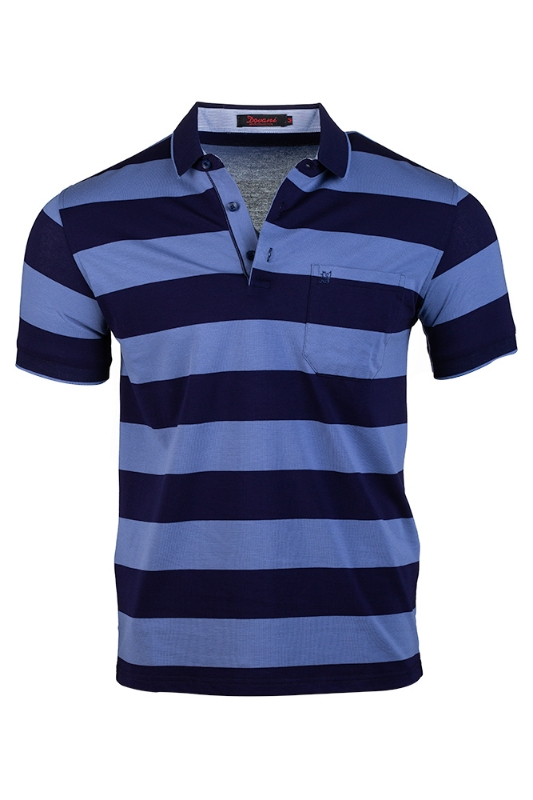 Imagine Tricou bleumarin cu dungi bleu S8215-2