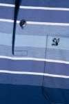 Imagine Tricou gri petrol cu dungi bleu B2114-1