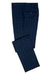 Imagine Pantaloni albastri in carouri A20565-2